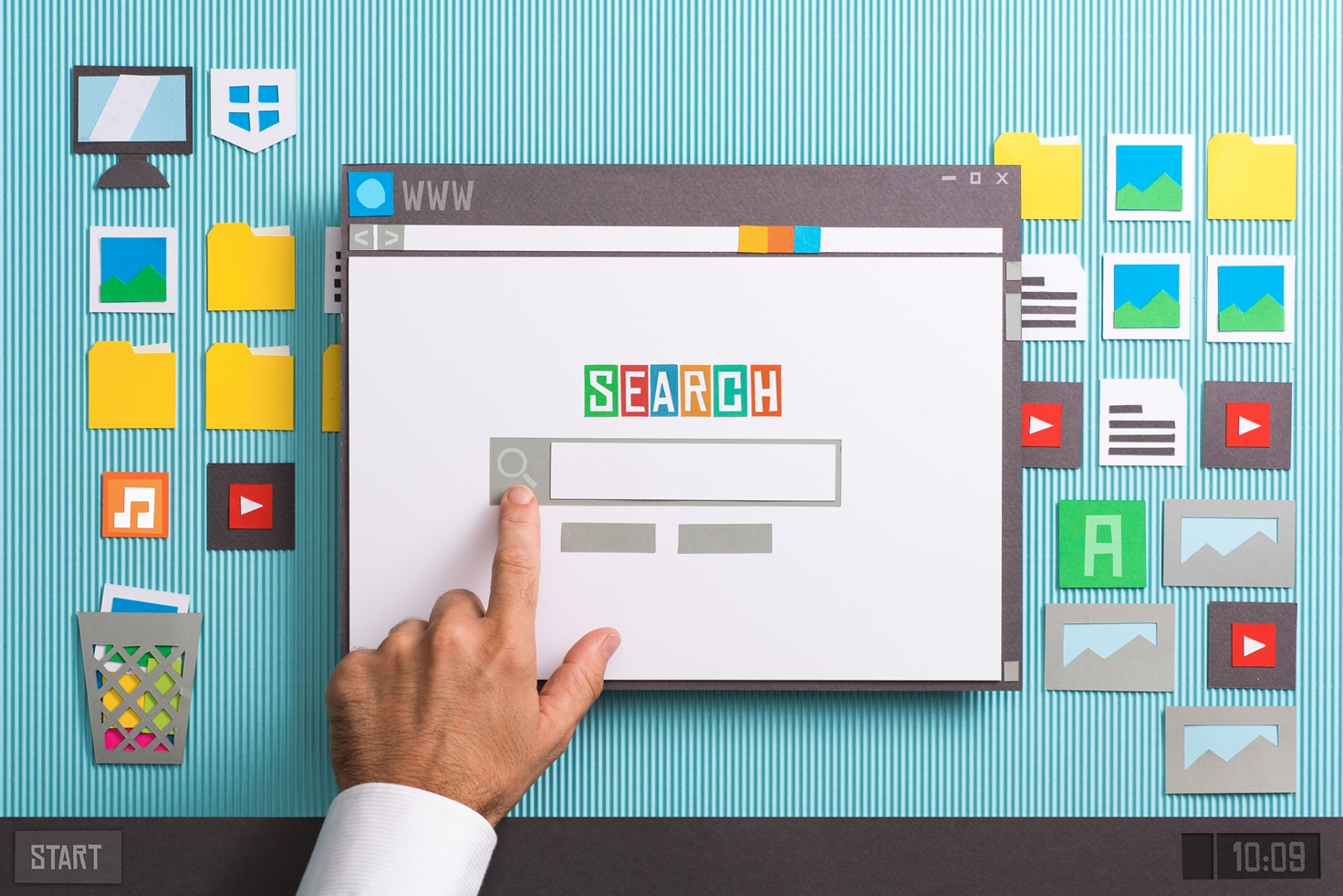 Search engine home page - Geeky